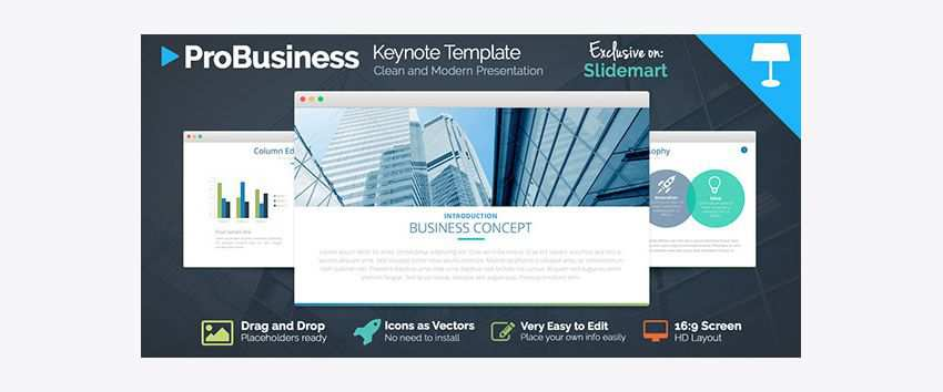 ProBusiness free keynote templates creative designer