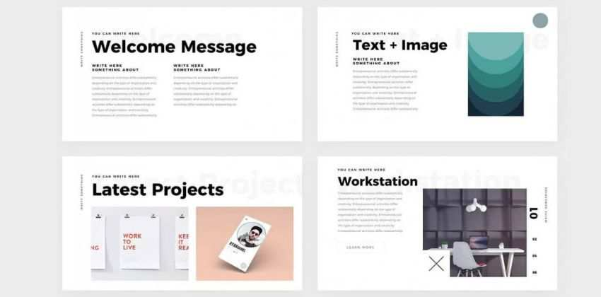 Simple Minimal free keynote templates creative designer