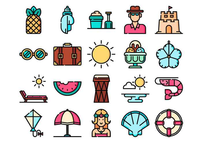 The Free Tropical Icon Set in SVG & PNG Formats