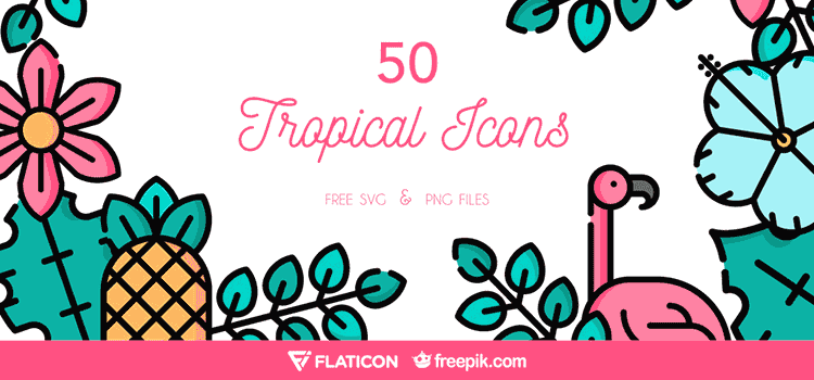 The Free Tropical Icon Set