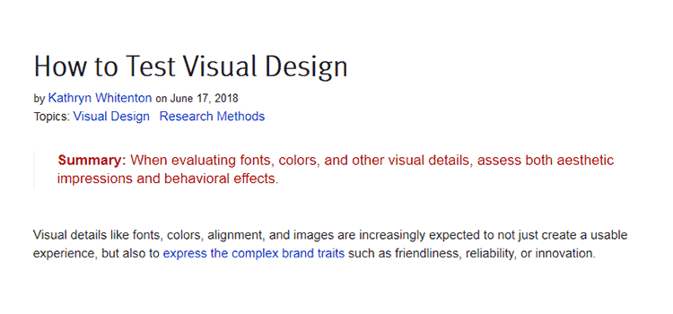 How to Test Visual Design