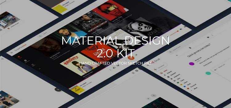 Material Design 2.0 Kit