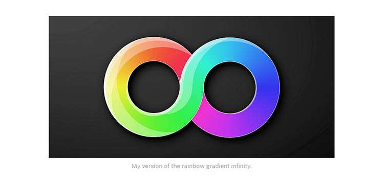 1 Element CSS Rainbow Gradient Infinity