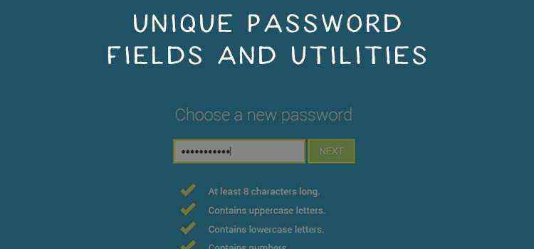 A Collection of Unique Password Field & Form Utility Code Snippets