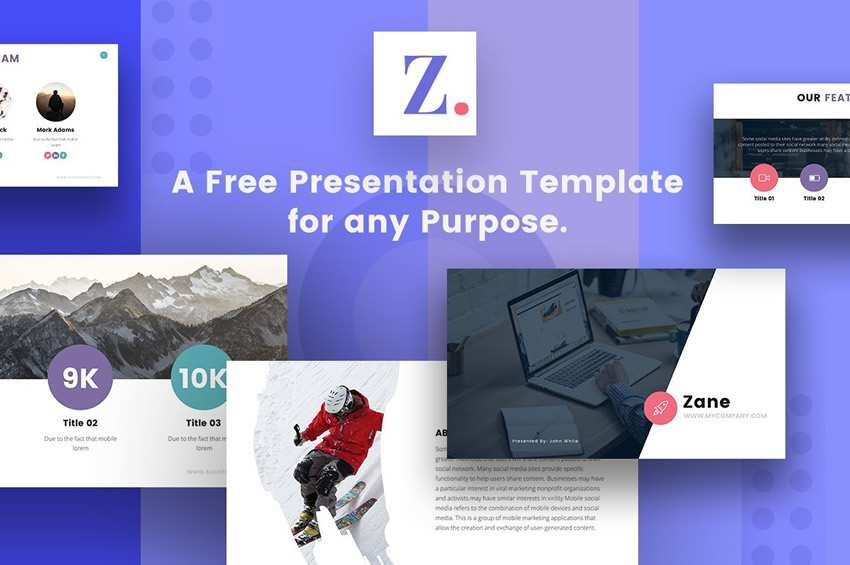 15 free keynote templates for creatives zane free keynote templates creative designer wajeb Images