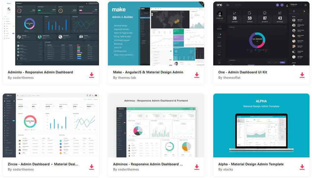 Bootstrap Admin Templates on Envato Elements