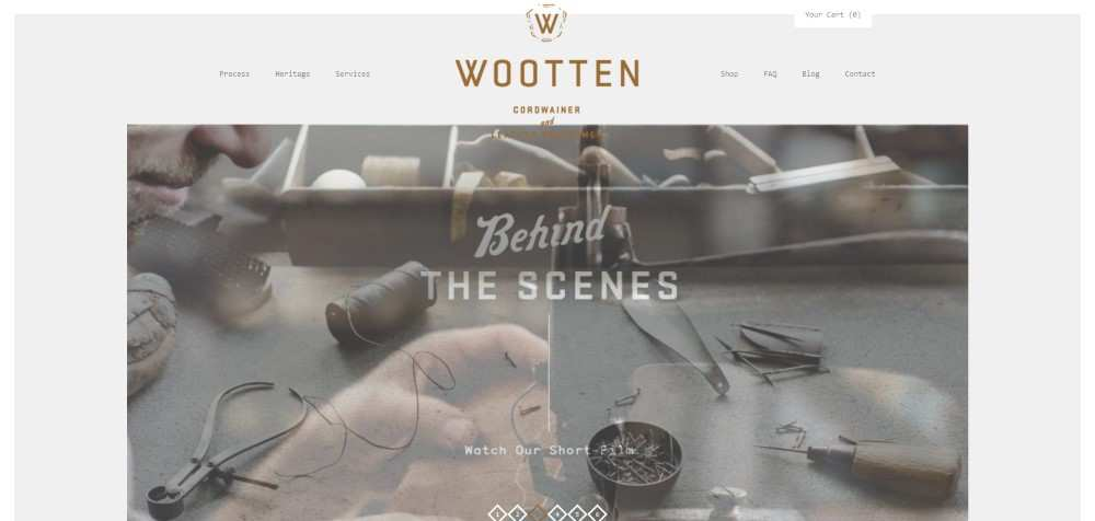 Wootten ecommerce web design inspiration user interface shop