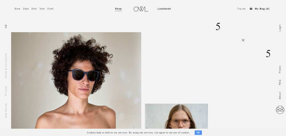 OWL ecommerce web design inspiration user interface shop