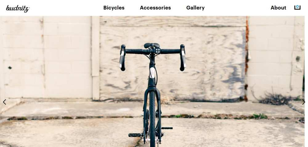 Budnitz Bicycles ecommerce web design inspiration user interface shop