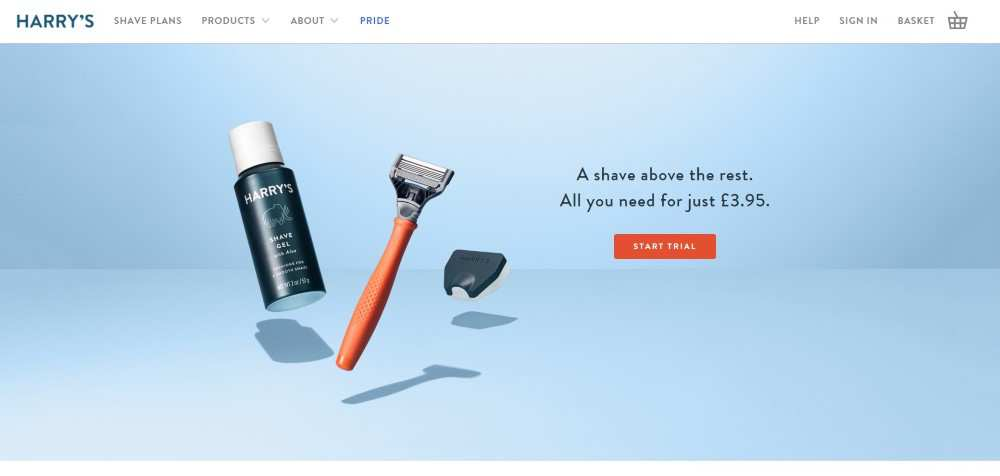 harrys ecommerce web design inspiration user interface shop