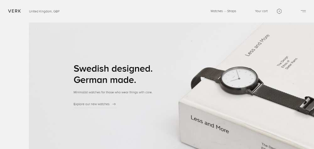 verk ecommerce web design inspiration user interface shop