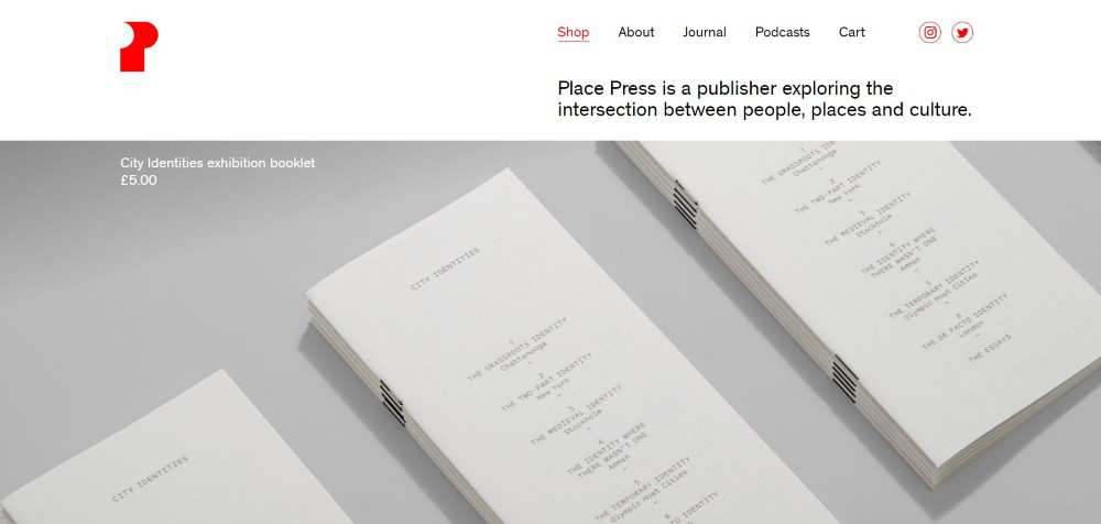 Place Press ecommerce web design inspiration user interface shop