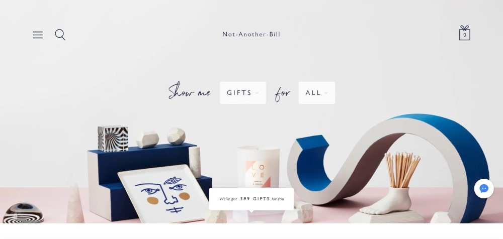 Not-Another-Bill ecommerce web design inspiration user interface shop