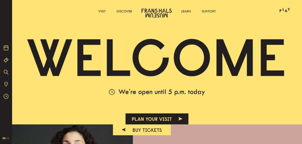 Frans Hals Museum ecommerce web design inspiration user interface shop