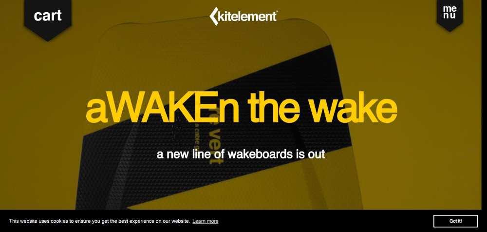 Kitelement ecommerce web design inspiration user interface shop