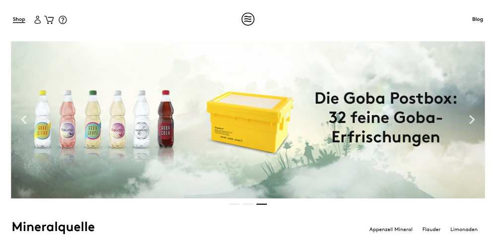 goba ecommerce web design inspiration user interface shop