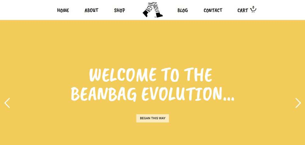 Bean About ecommerce web design inspiration user interface shop