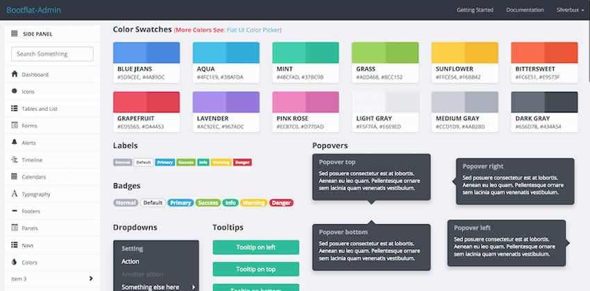 Bootflat Admin Flat UI Bootstrap 3 Admin Dashboard Kit UI gratuito