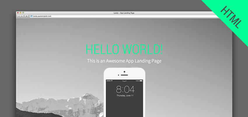 Landy flexible bootstrap landing template app free