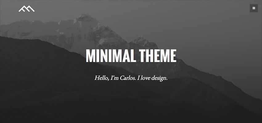 Página de inicio de estilo Minimal Dark sin bootstrap