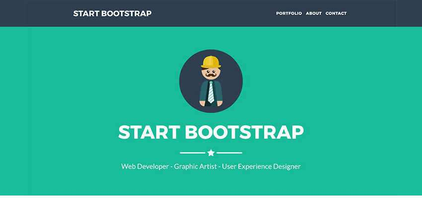 Freelancer extremely flat single-page template free portfolio bootstrap