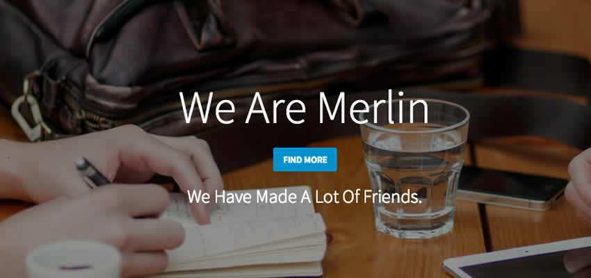 Merlin clean simple single-page Bootstrap template free theme