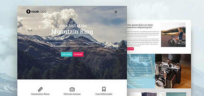 Mountain King Bootstrap Template free HTML