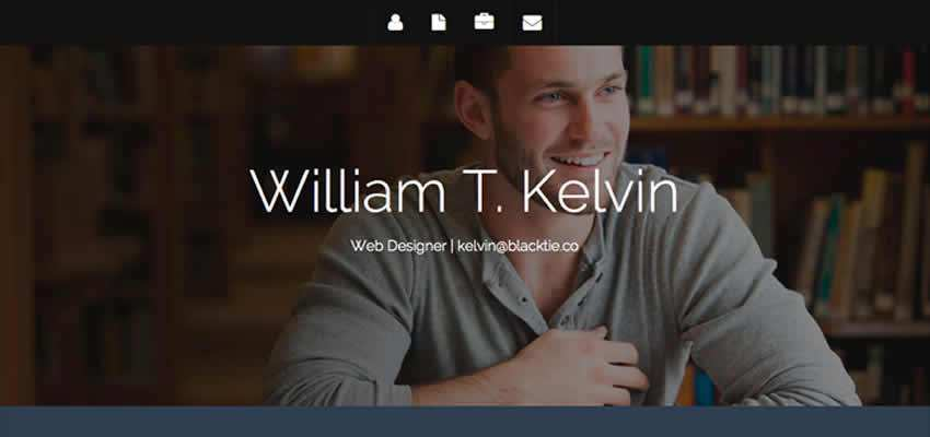 Kelvin Resume free stylish simple resume template Bootstrap Templates