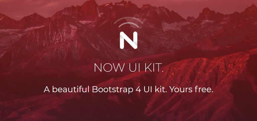 Now UI Kit bootstrap free