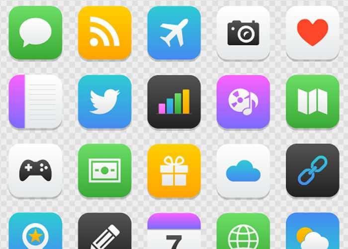 Freebie: Mobile App Icon Set for Illustrator & Photoshop