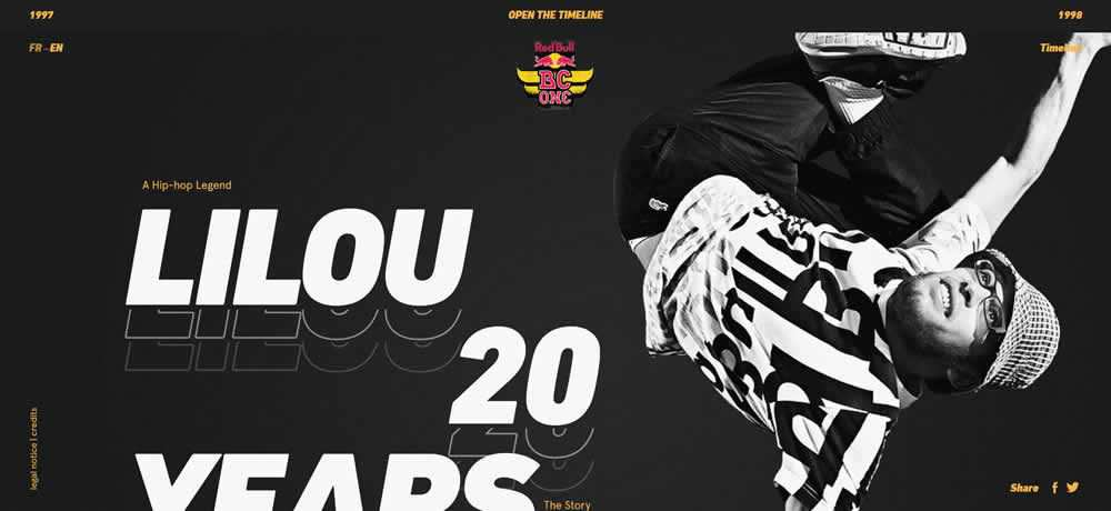 Parallax Scrolling Web Design Inspiration 20 Years of Hip-hop Culture