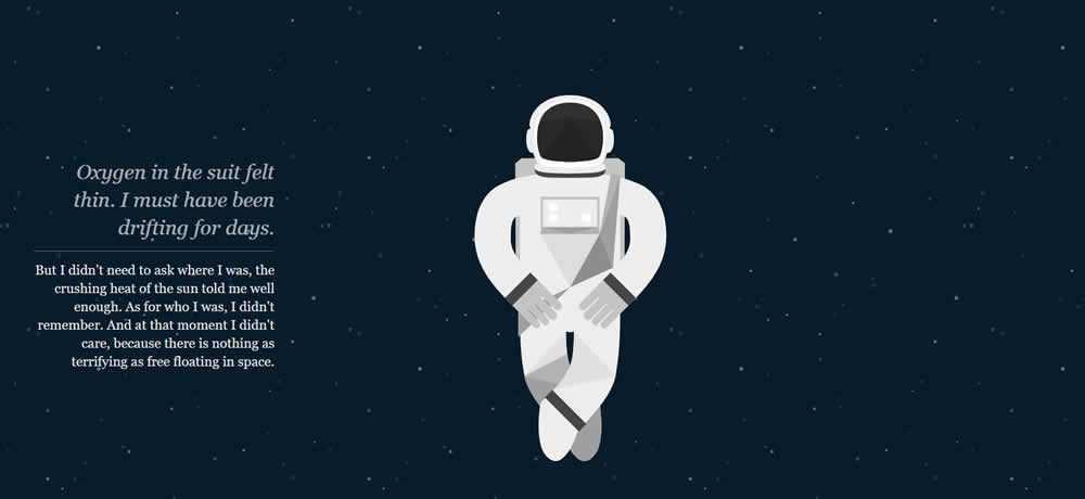 Parallax Scrolling Web Design Inspiration NASA: Prospect