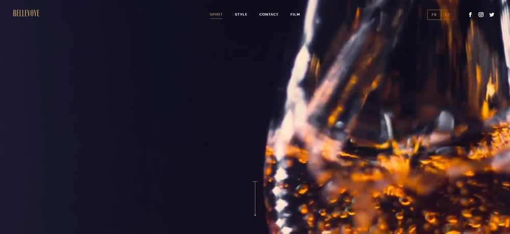 Parallax Scrolling Web Design Inspiration Bellevoye