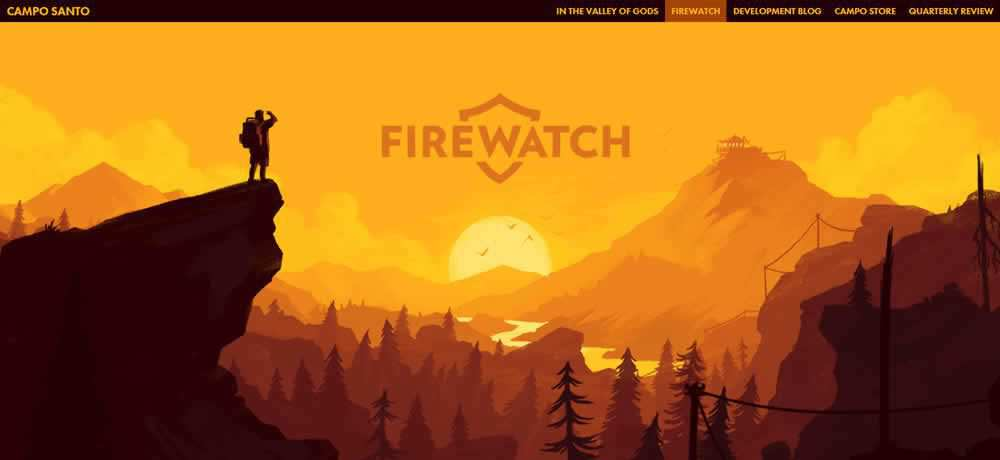 Parallax Scrolling Web Design Inspiration Campo Santo - Firewatch