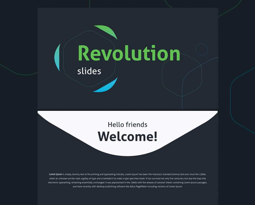 Revolution free powerpoint templates designers creatives