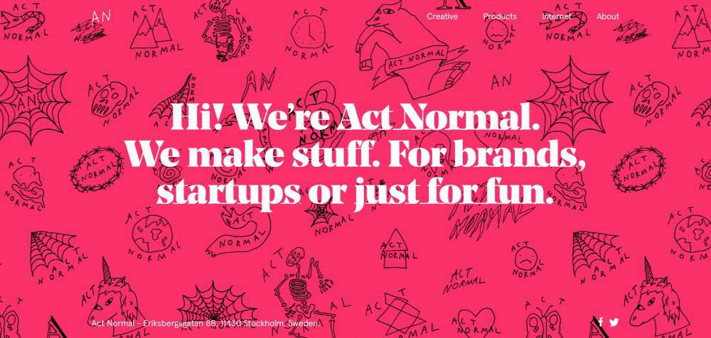 Act Normal web design agency creative studio inspiration