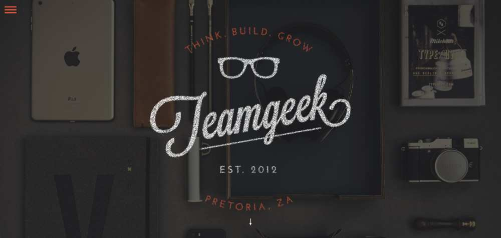 Teamgeek web design agency creative studio inspiration