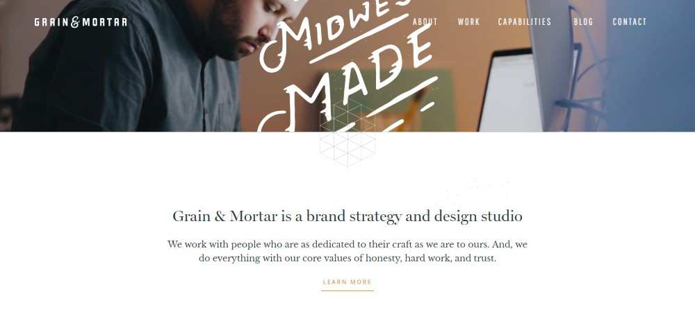 grain mortar web design agency creative studio inspiration