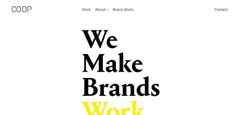co op web design agency creative studio inspiration