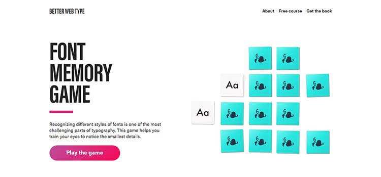 Font Memory Game