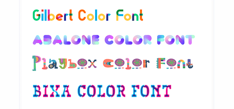 How to Use Color Fonts on the Web