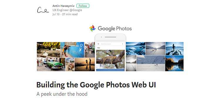 Building the Google Photos Web UI
