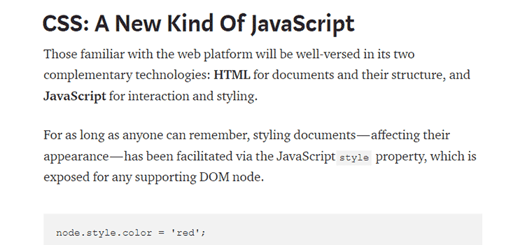 CSS: A New Kind Of JavaScript