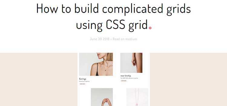 How to build complicated grids using CSS grid