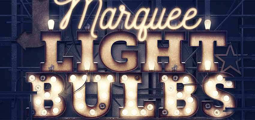 Marquee Light Bulbs 3D Numbers