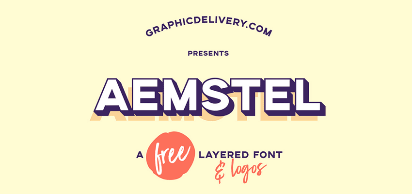 Aemstel Free Layered Font