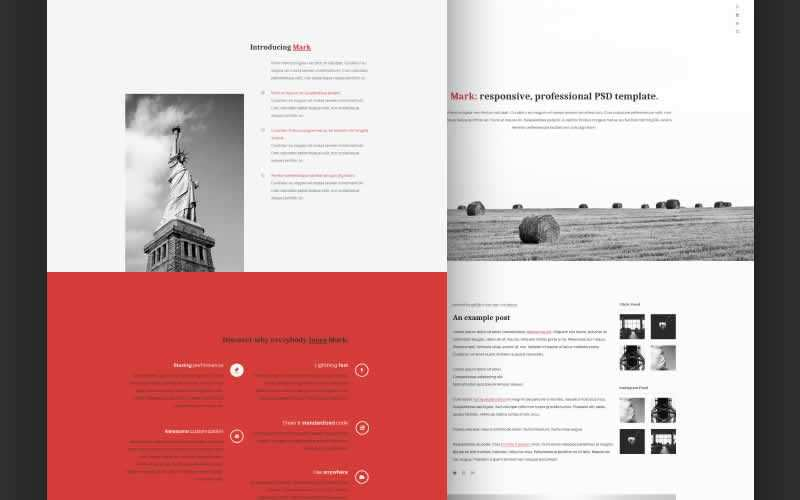 Mark Free Portfolio PSD Template Adobe Photoshop