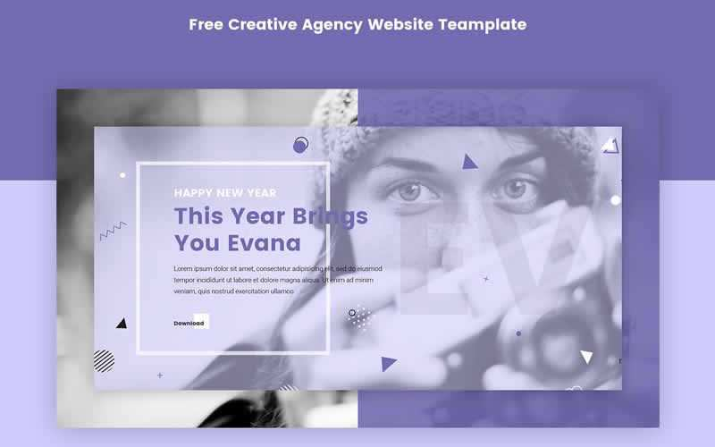 Evana Free Creative Agency PSD Template Adobe Photoshop