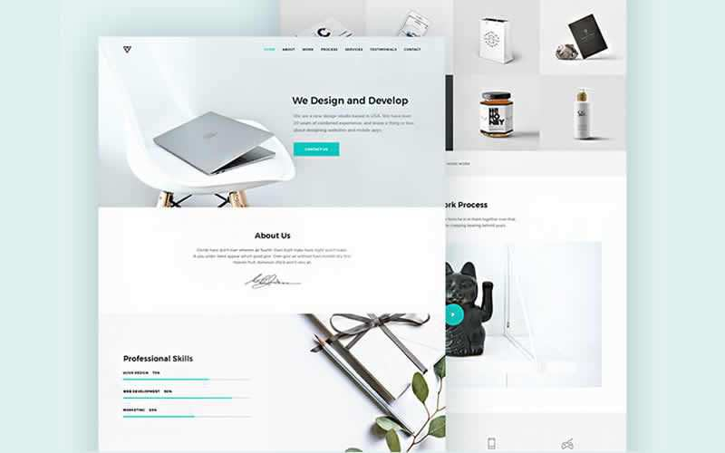 Piroll Design Agency Portfolio PSD Templates Free Adobe Photoshop