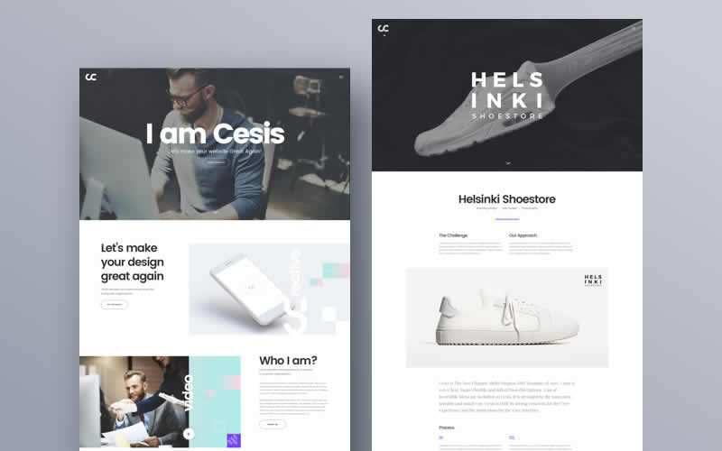 Cesis Creative Agency PSD Web Template Free Adobe Photoshop